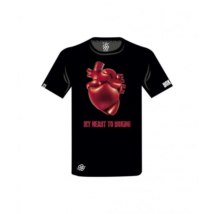 camiseta con guantes de boxeo formando un corazon el bronx