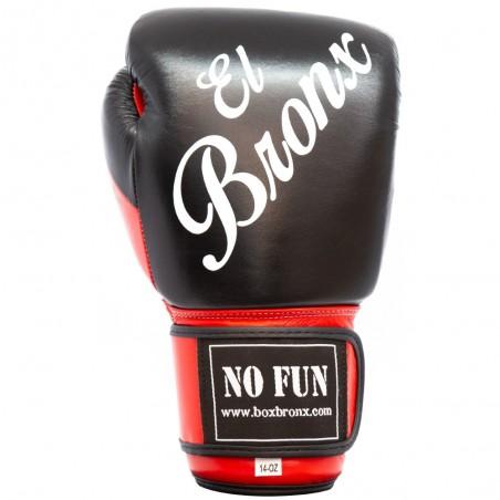 guantes de boxeo de piel, cierre con velcro, color rojo y negro