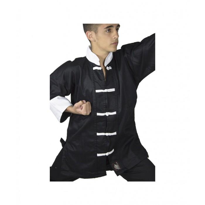 traje de artes marciales kung fu de color negro de la marca el bronx