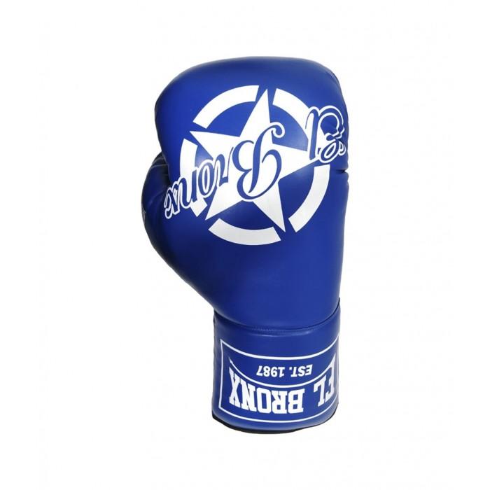 souvenir, guante gigante de piel sintética, color azul