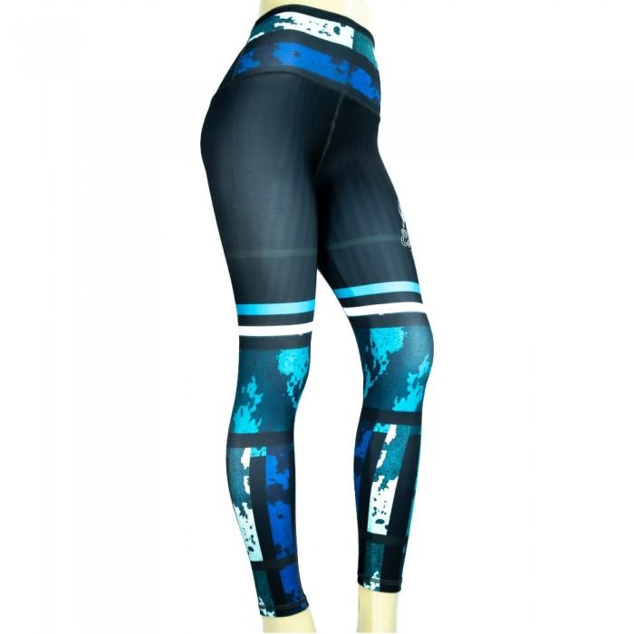 leggins para mujer fitness, color azul y cyan de el bronx