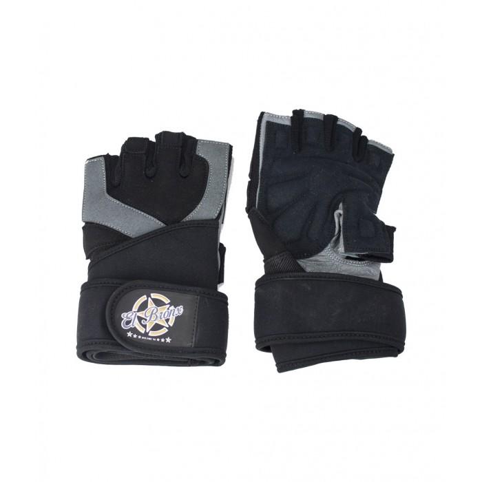 guantes par fitness, color gris y negro