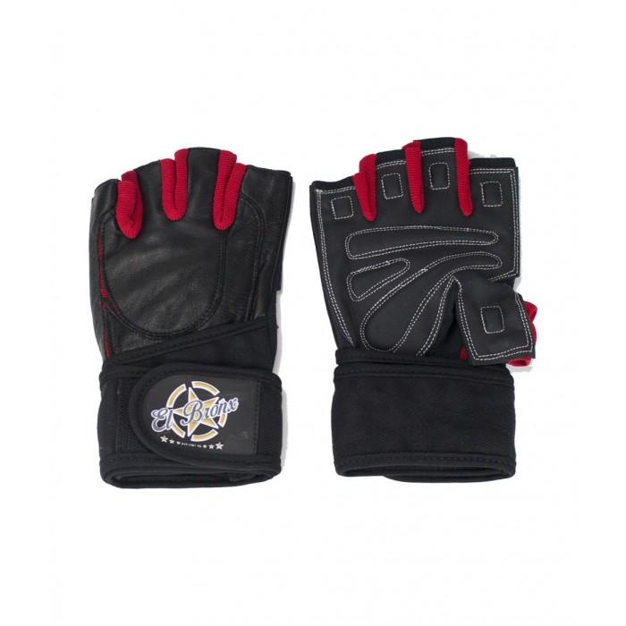 guantes para fitness, color negro y rojo