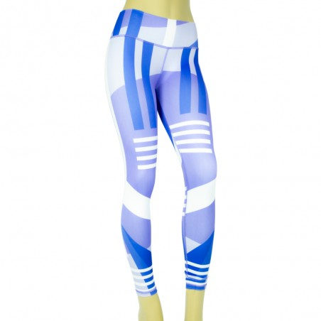 leggings par fitness, color azul y morado