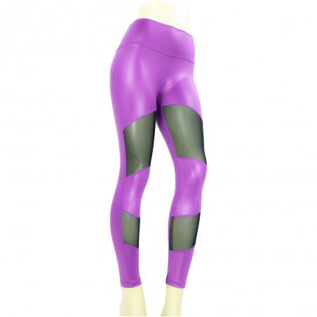 leggings para fitness, color morado