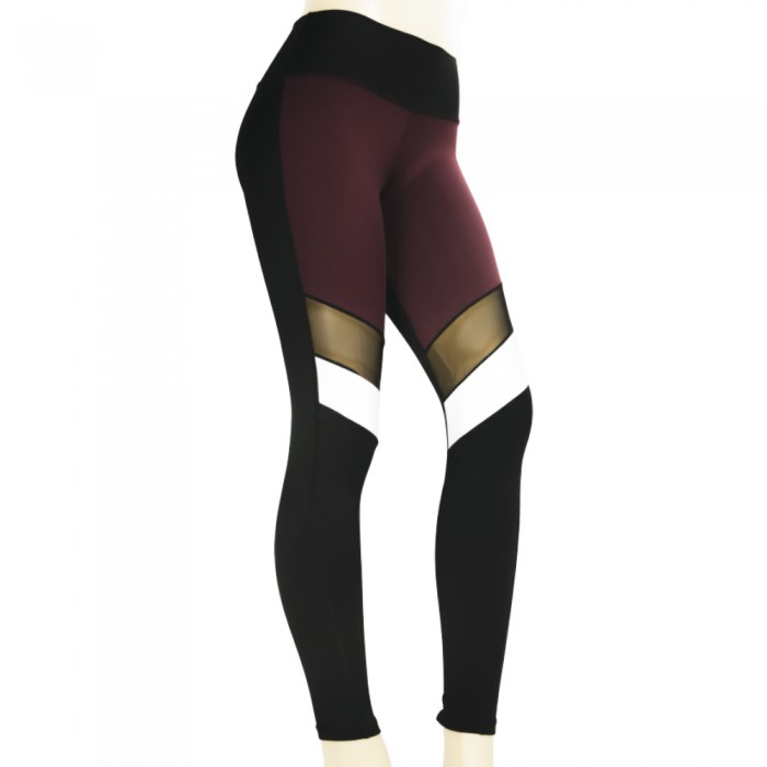 leggings para fitness, color negro y granate
