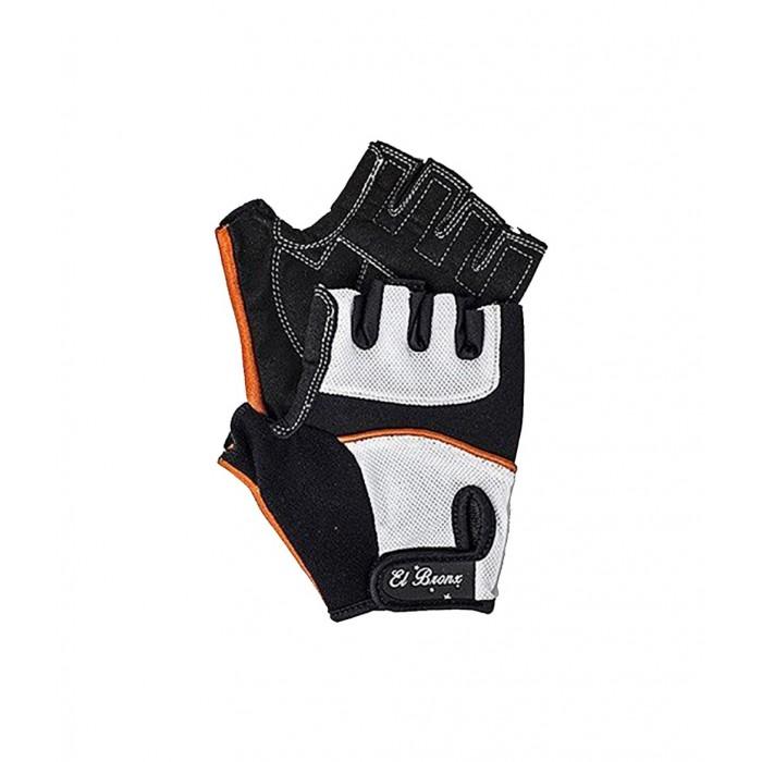 guantes para fitness, color blanco y negro