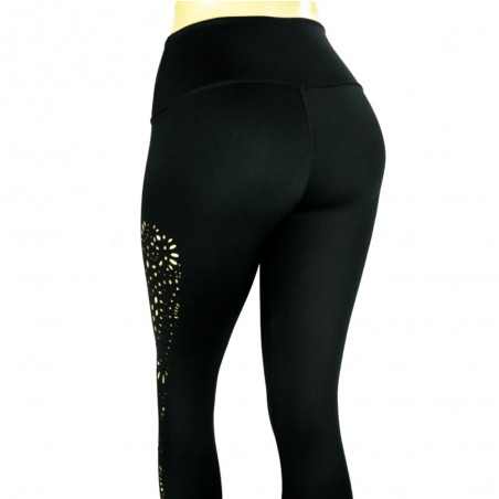 leggings para fitness, color negro