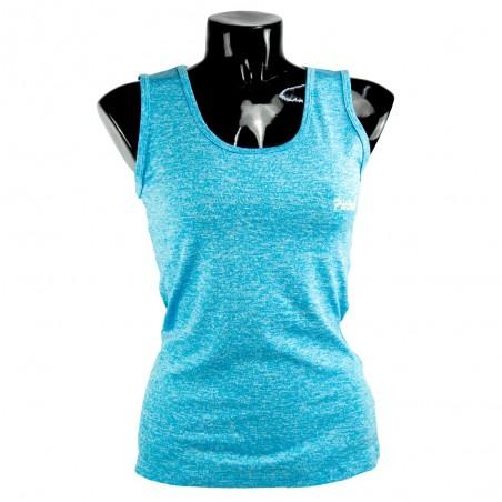 camiseta de mujer fitness azul claro el bronx