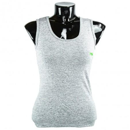 camiseta de mujer fitness gris el bronx