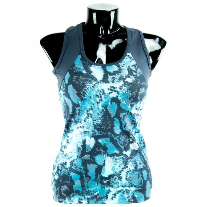 camiseta fitness estampado  snake azul el bronx