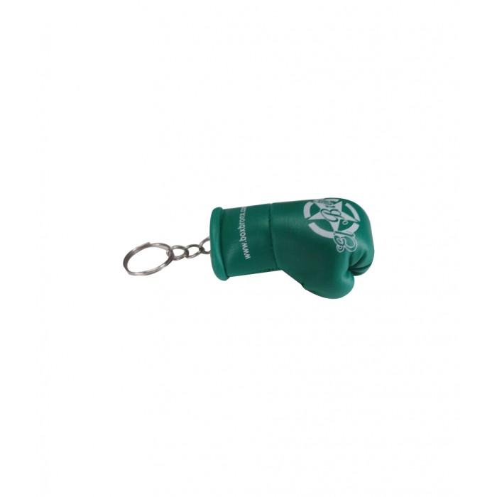 llavero guante de boxeo color verde