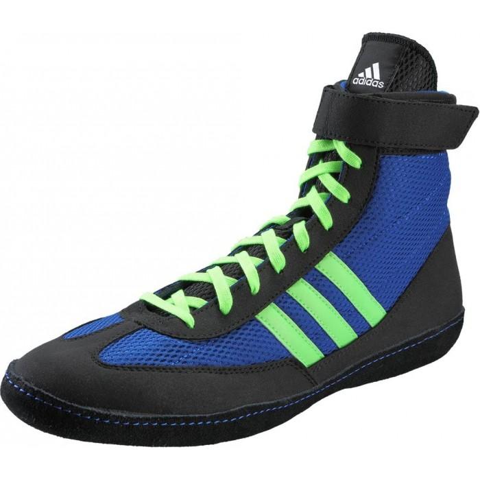 botas de boxeo azul y verde