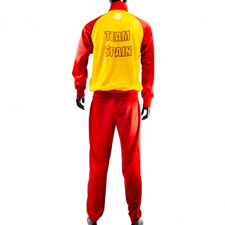 chandal españa amarillo y rojo el bronx