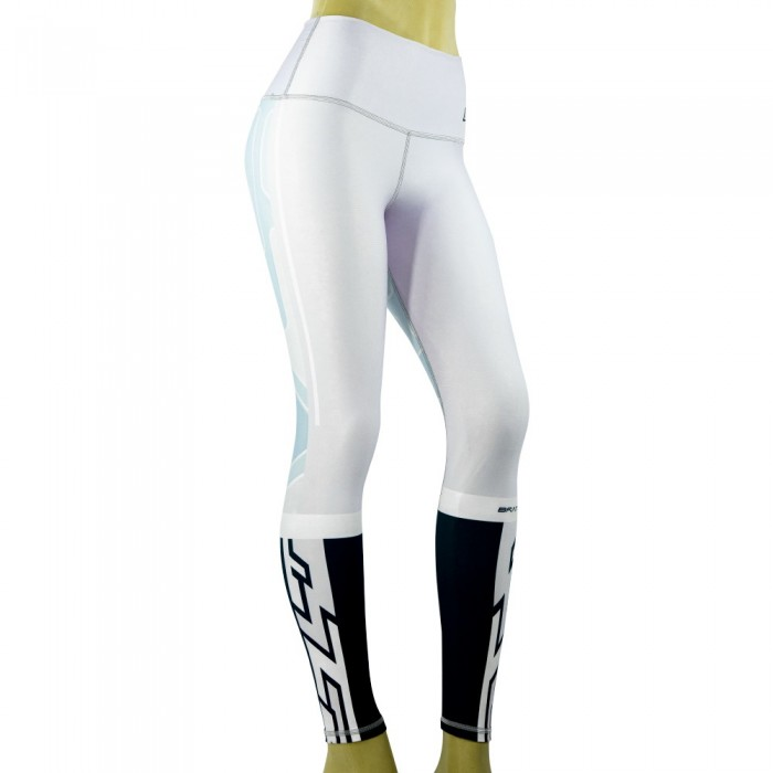 leggingis para fitness, color blanco y negro