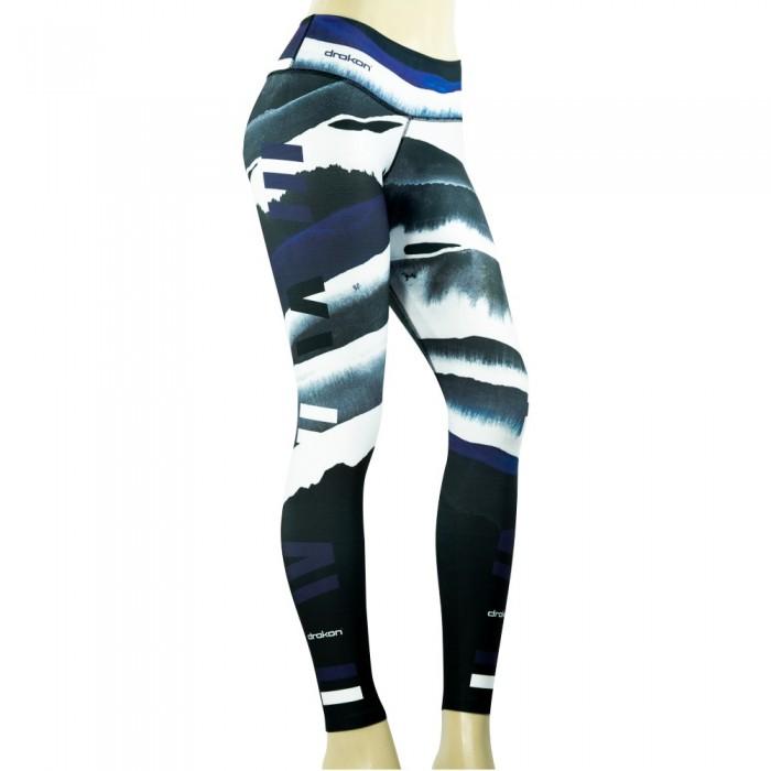 leggings deportivo drakon, color gris y blanco