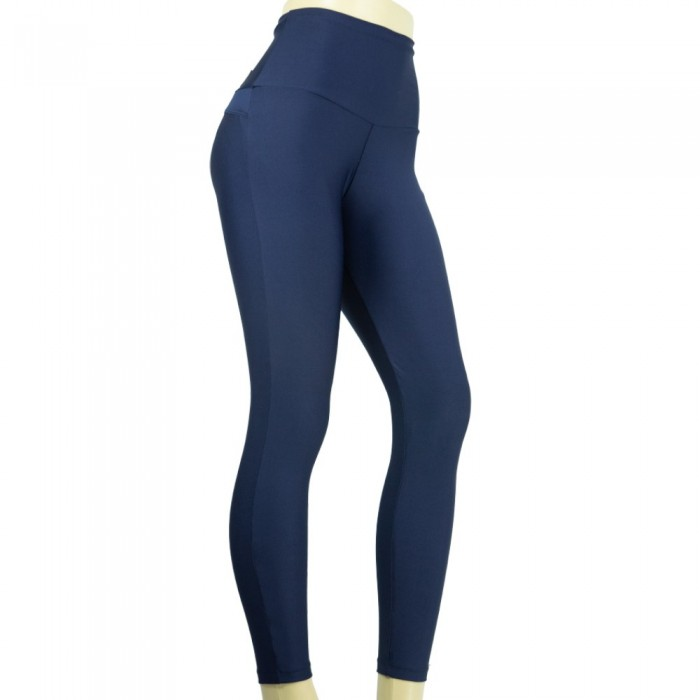 leggins para vestir, color azul con faja invisible, de el bronx