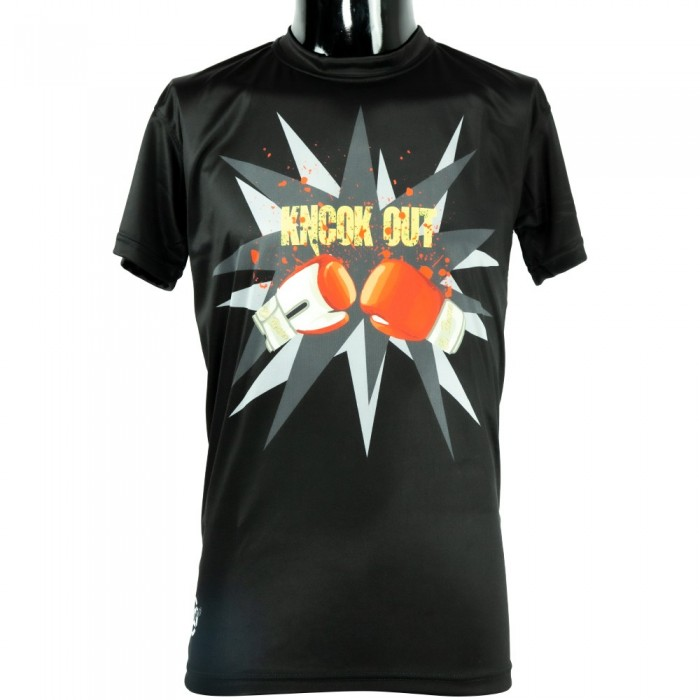 CAMISETA POLIESTER NEGRA KNOCK OUT EL...