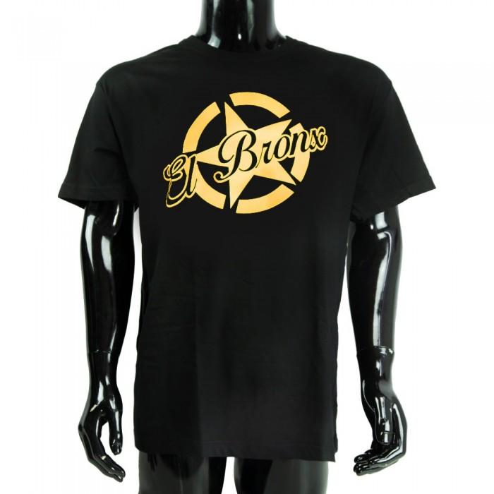 camiseta big star el bronx niños negro y oro