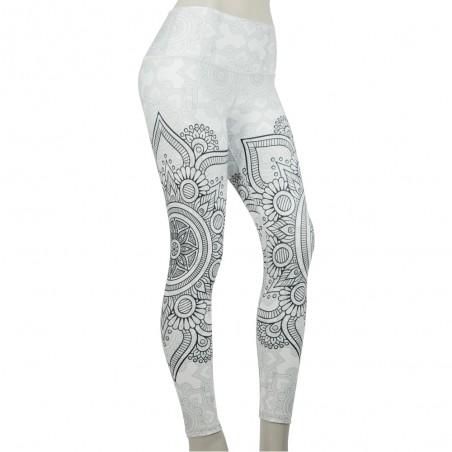 leggins para mujer fitness, color blanco de el bronx