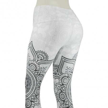 leggings para fitness, color blanco