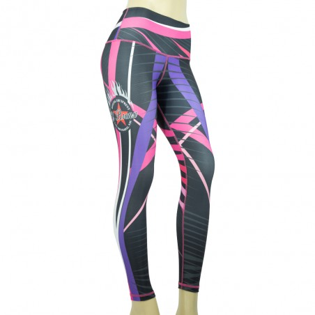 leggings para fitness, color negro y rosa