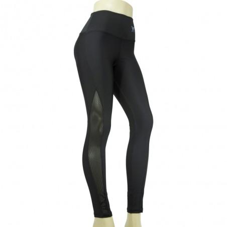 leggings para fitness zoefit, de color negro