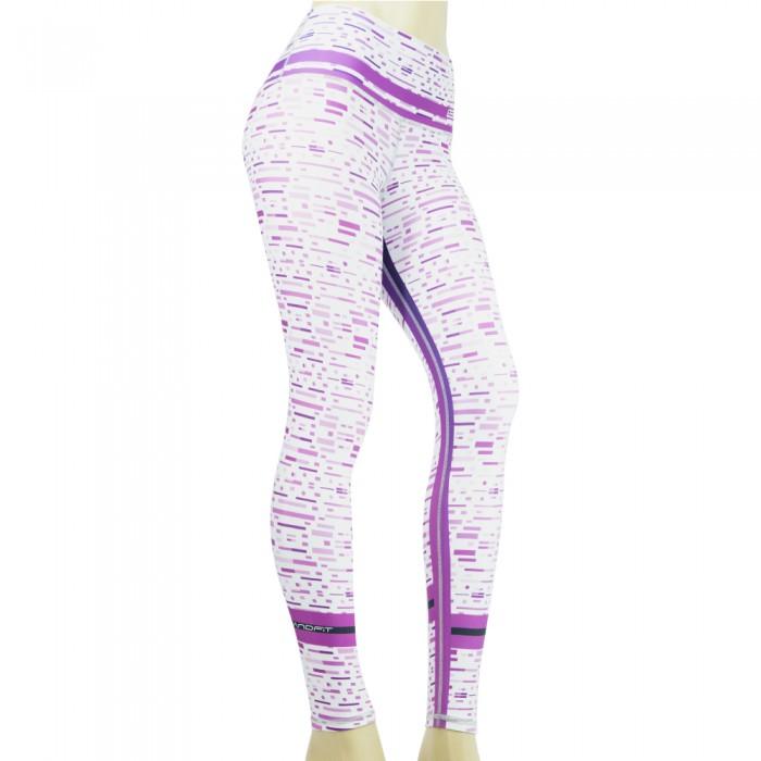 leggings para fitness, color morado y blanco