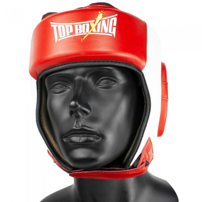 casco competición amateur rojoblanco