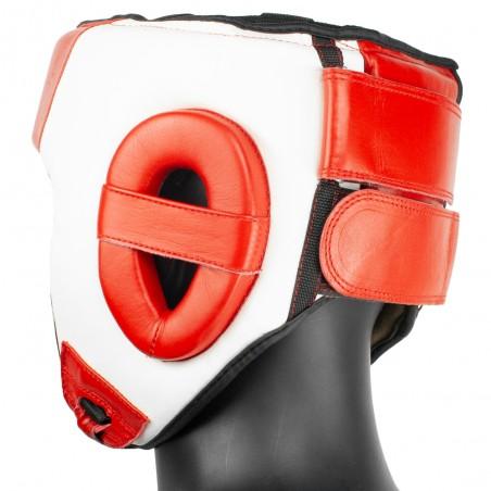 casco rojoblanco competición amateur