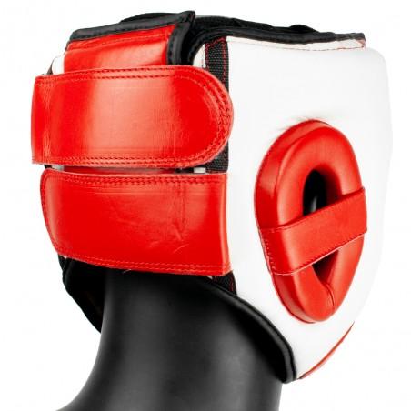 casco competición rojoblanco amateur