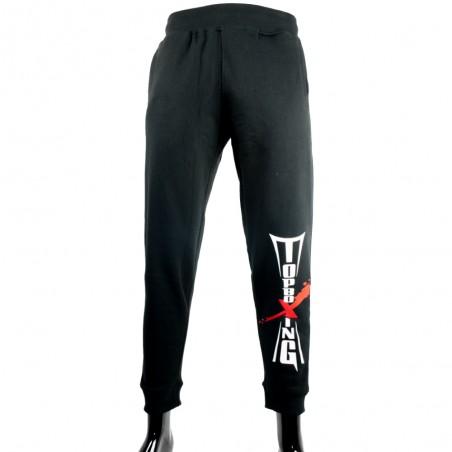 pantalon chandal negro top boxing letras frontal