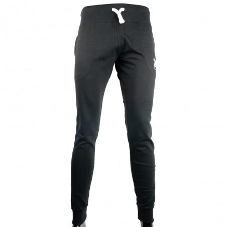 pantalon chandal con logo pequeño color negro