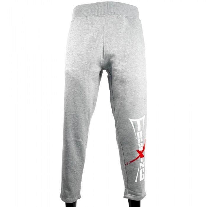 pantalon chandal corte clasico gris top boxing