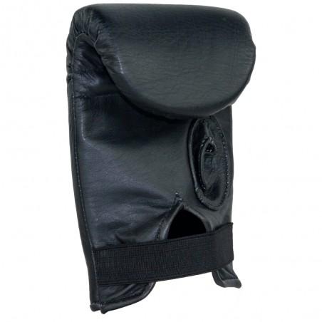 guantaletas de piel, color negro