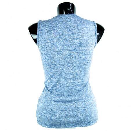 camiseta de mujer fitness azul celeste el bronx