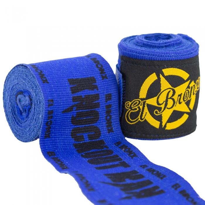 vendas 4 mts semi elásticas azules knockout man
