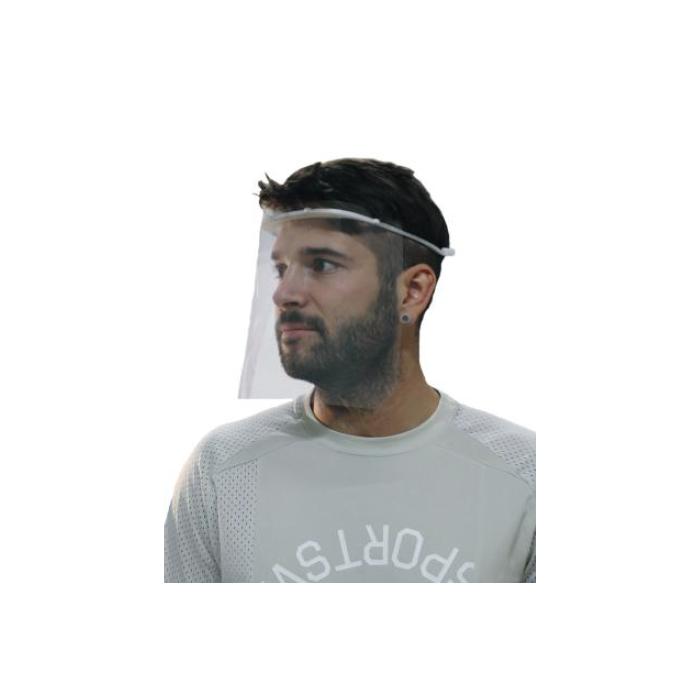 pantalla facial diadema metacrilato lateral