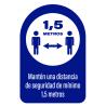 señal para pared y suelo distancia  150 centímetros