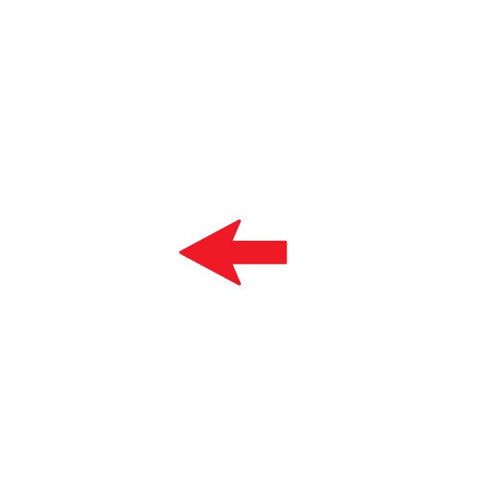 señal para pared y suelo flecha