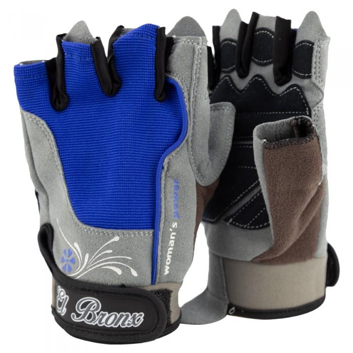 guantes para fitness, color gris y azul