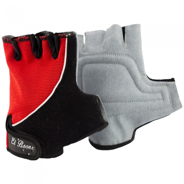 guantes para fitness, color rojo y negro