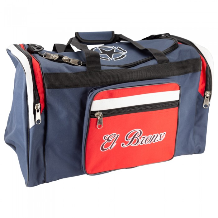 bolsa de deporte de nylon, color rojo y azul