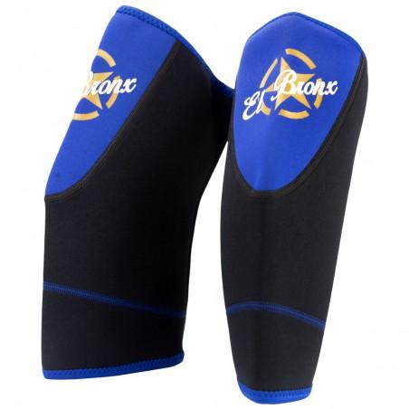 rodillera de neopreno, color azul y negro