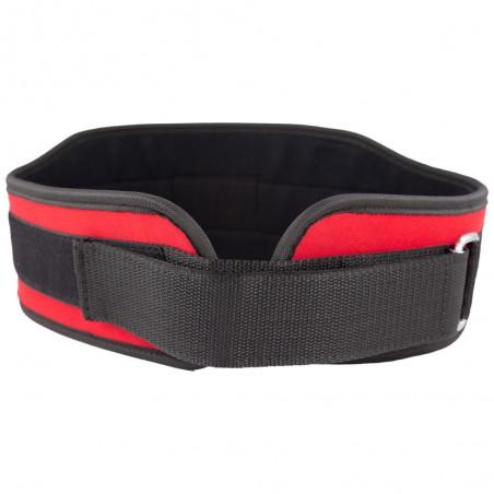 cinturón de mujer para levantamiento de peso, color rojo