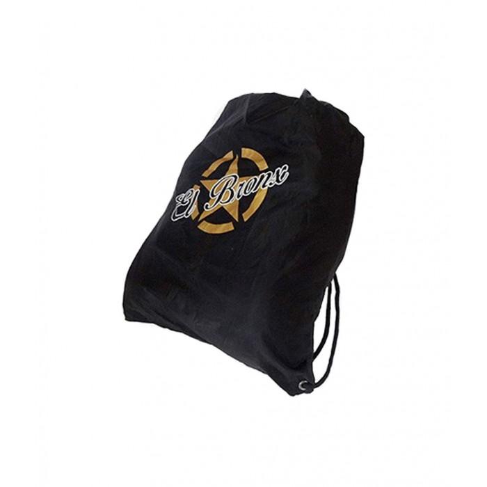 mochila de cuerdas color negro