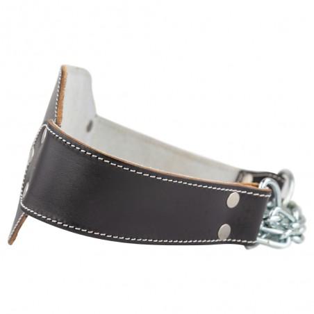 cinturón para levantamiento de pesas, color negro.