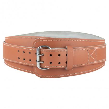 cinturón para levantamiento de pesas, color marrón