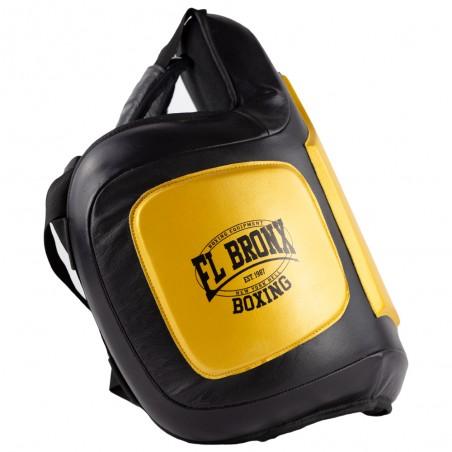 peto de entrenador amarillo y negro