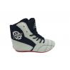 botas de boxeo savate competición caña media  color gris el bronx